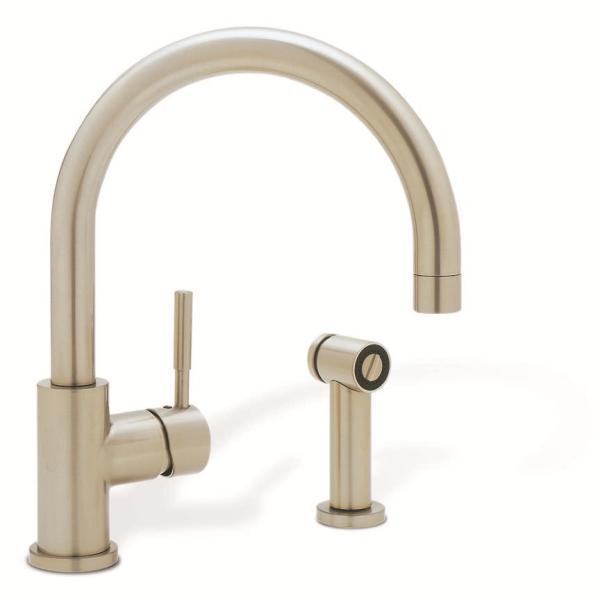 Blanco Meridian Single Lever Kitchen Faucet W Side Spray Satin