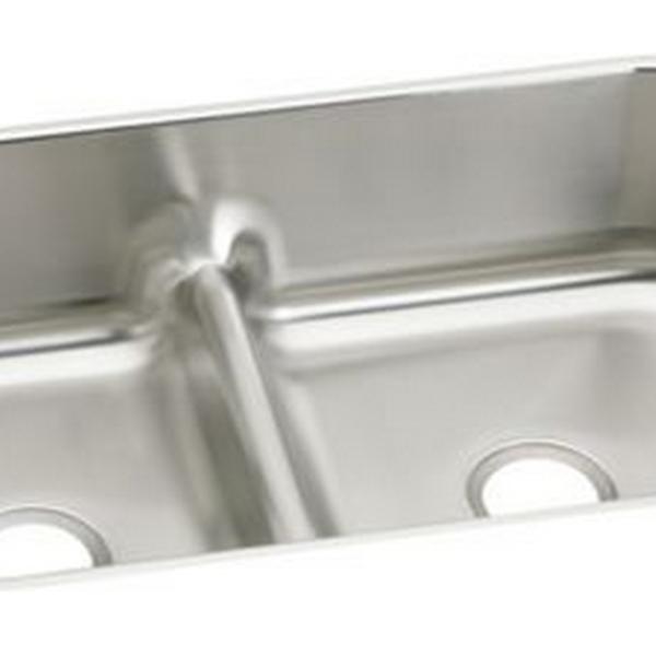 Elkay   Sinks Gourmet Stainless Steel Double Bowl Undermount Sink