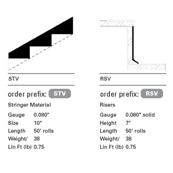 vinyl stair treads - risers + stringers : Flexco : Pro